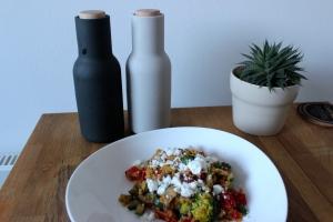 Warmer Gemüse Linsensalat